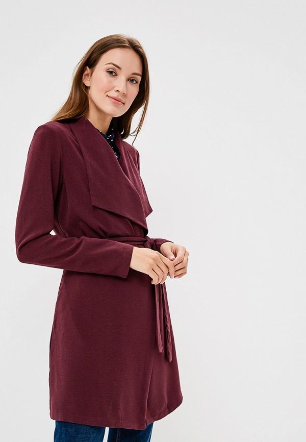 женский жакет vero moda, бордовый
