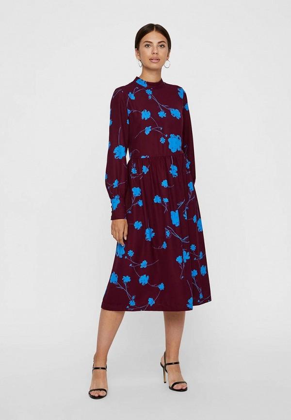 Купить Платье Vero Moda, VE389EWBXUH4, бордовый, Осень-зима 2018/2019