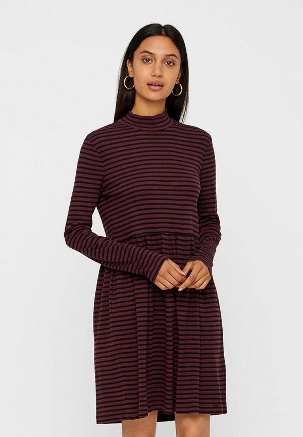Купить Платье Vero Moda, VE389EWBXUK1, бордовый, Осень-зима 2018/2019