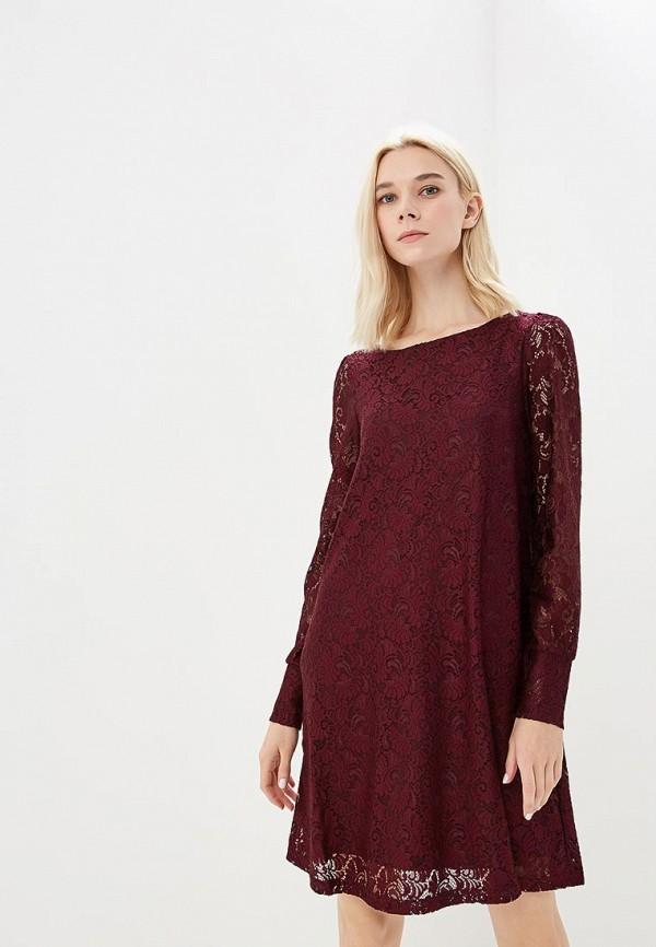 Купить Платье Vero Moda, VE389EWBXUT7, бордовый, Осень-зима 2018/2019