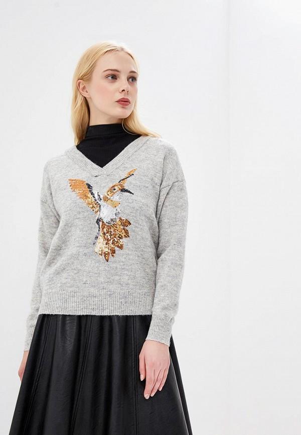 женский пуловер vero moda, серый