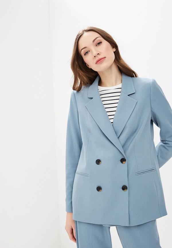 женский пиджак vero moda, голубой