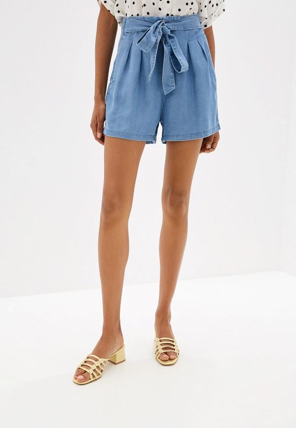 женские шорты vero moda, голубые