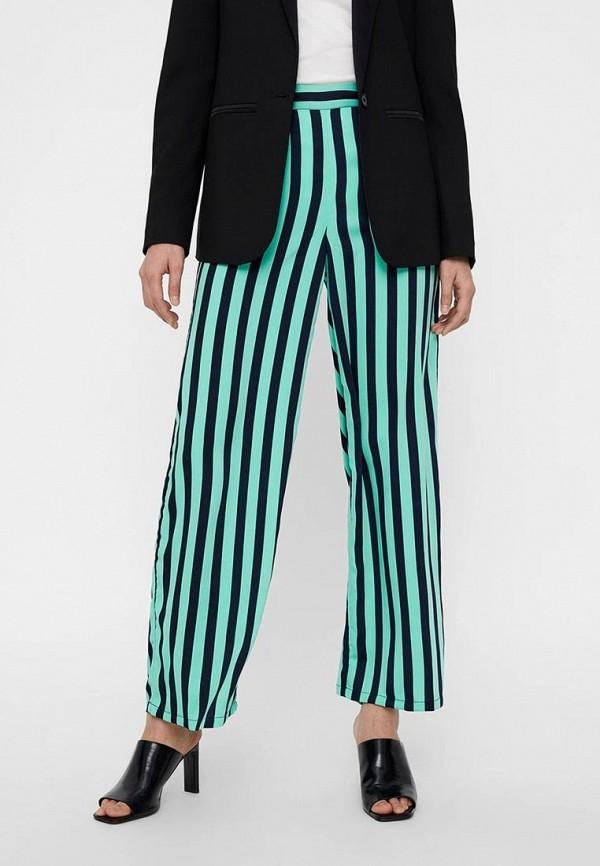 женские повседневные брюки vero moda, бирюзовые