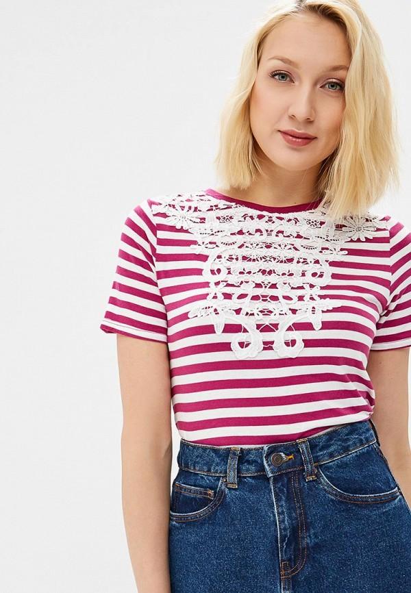 женская футболка vero moda, розовая