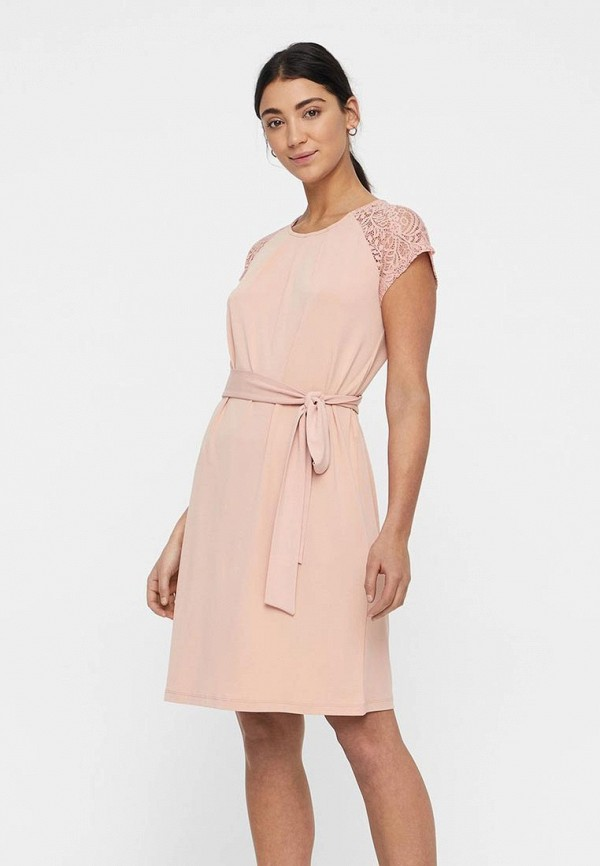 женское повседневные платье vero moda, розовое