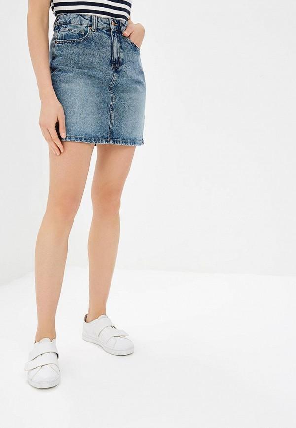 женская джинсовые юбка vero moda, синяя