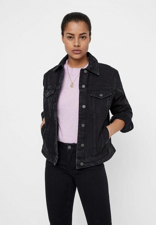 Купить Куртка джинсовая Vero Moda, ve389ewdlxb7, черный, Весна-лето 2019