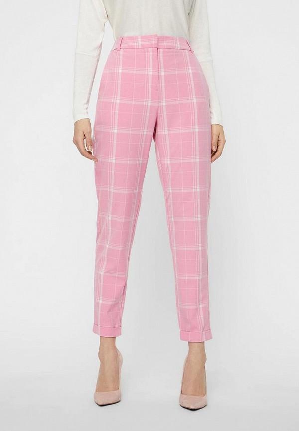 женские повседневные брюки vero moda, розовые