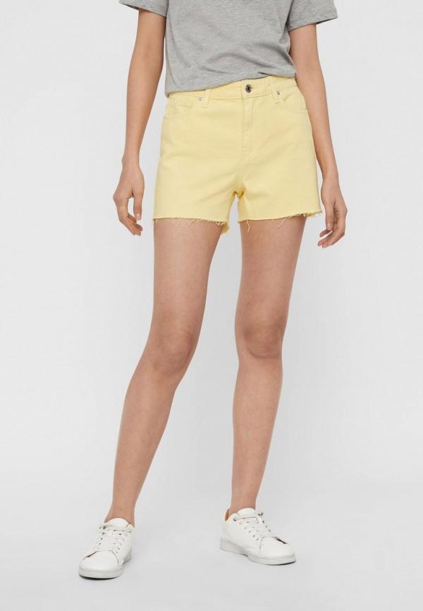 женские повседневные шорты vero moda, желтые