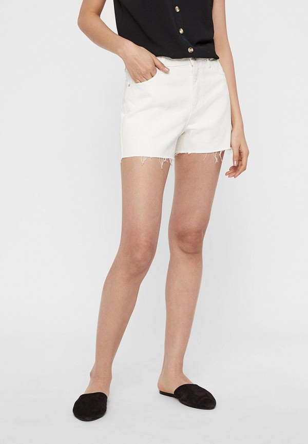 женские джинсовые шорты vero moda, белые