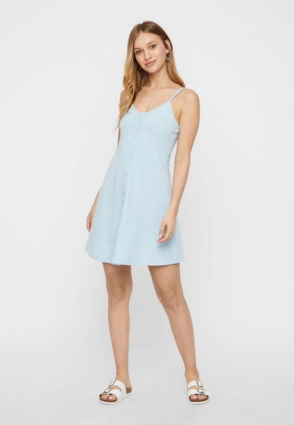 женское повседневные платье vero moda, голубое