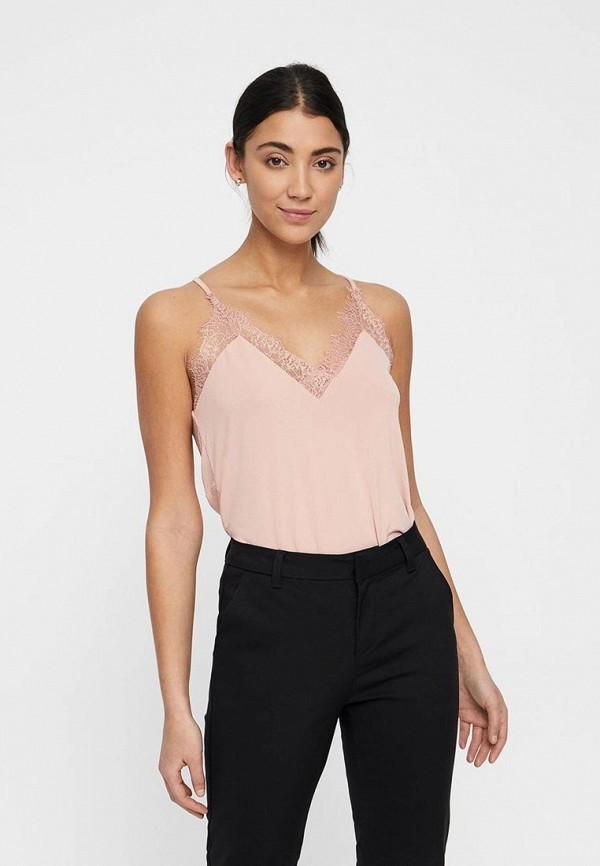 женский топ vero moda, розовый
