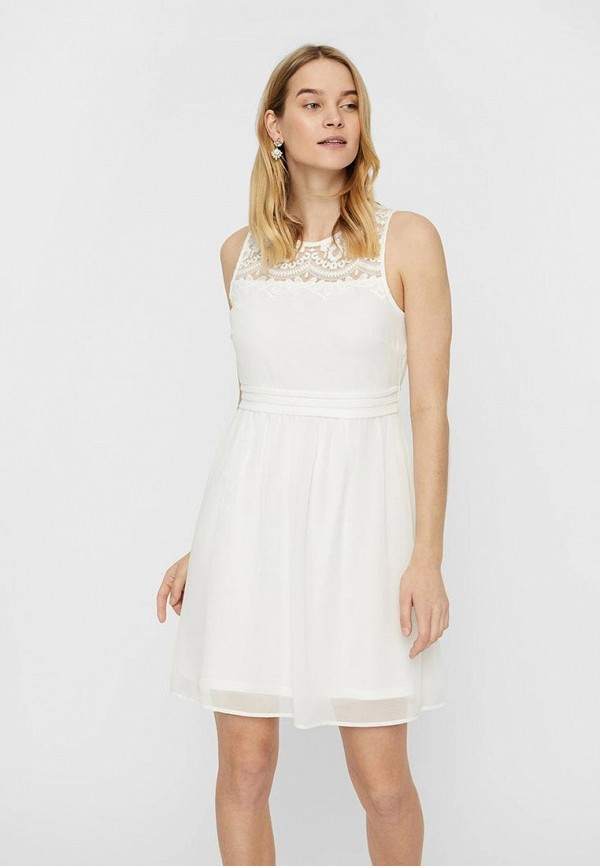 Платье Vero Moda Vero Moda VE389EWEVHS2 блузка женская vero moda цвет белый 10194917 snow white размер xl 48