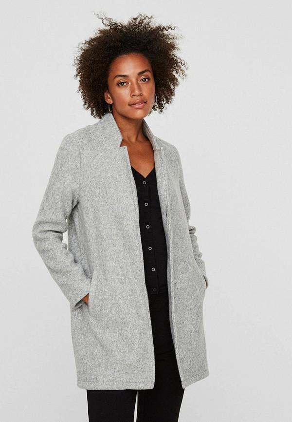 женское пальто vero moda, серое