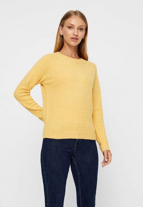женский джемпер vero moda, желтый