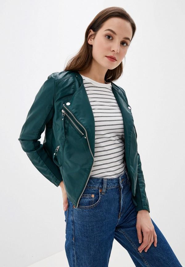 женская куртка vero moda, зеленая