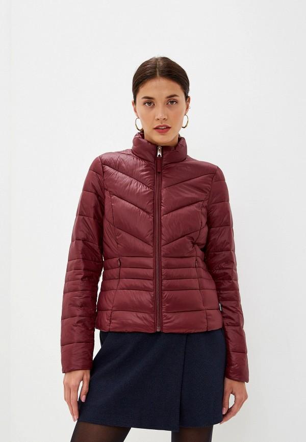 женская куртка vero moda, бордовая