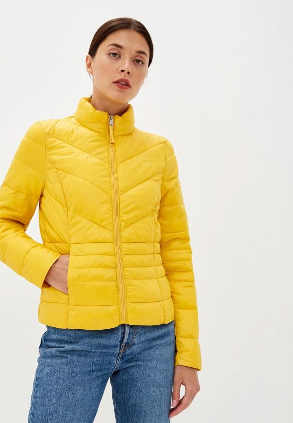 женская куртка vero moda, желтая