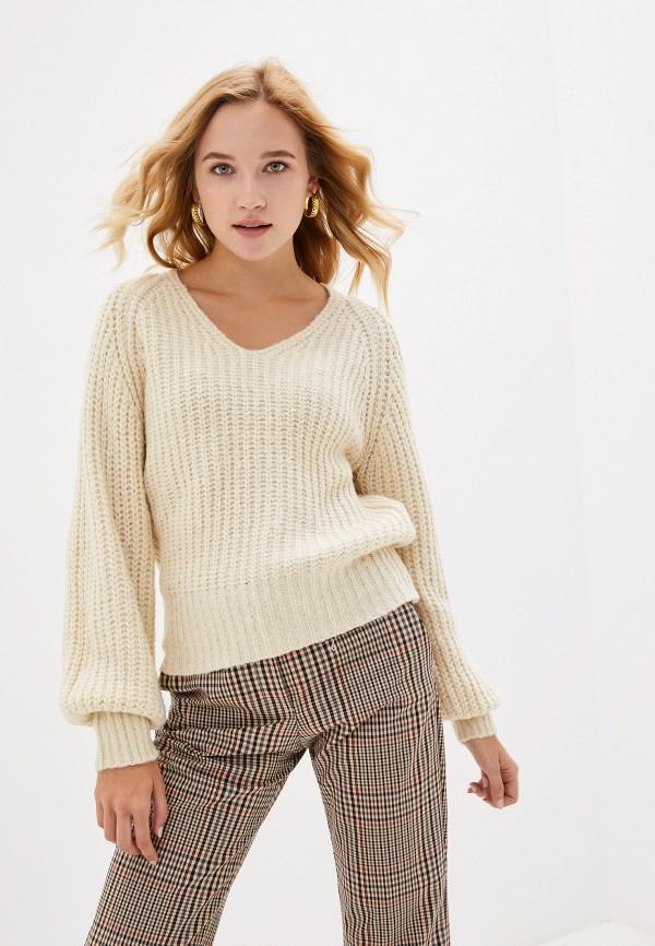 женский пуловер vero moda, бежевый