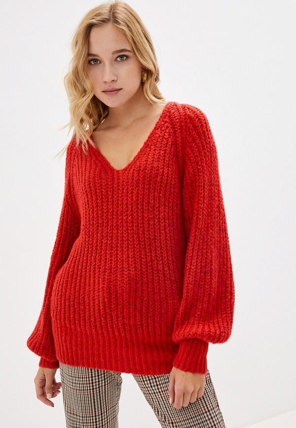 женский пуловер vero moda, красный