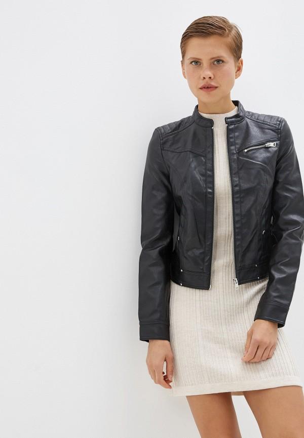 Куртка кожаная Vero Moda Vero Moda VE389EWFINP6 куртка женская vero moda цвет черный 10202806 black размер m 44