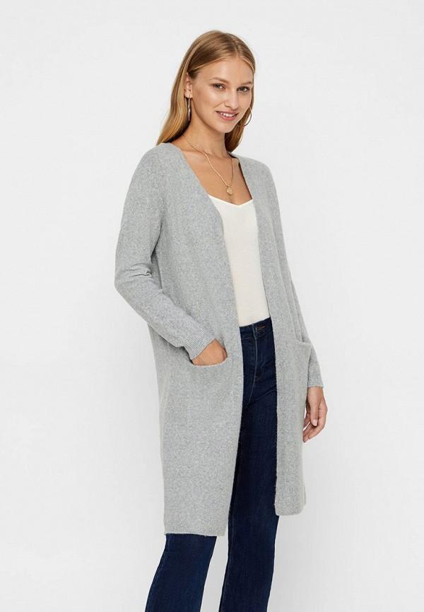 женский кардиган vero moda, серый