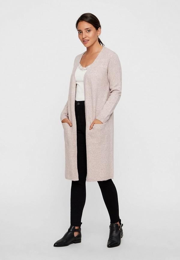 женский кардиган vero moda, розовый