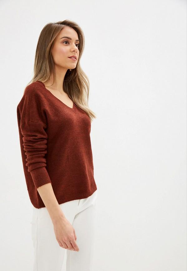 женский пуловер vero moda, коричневый