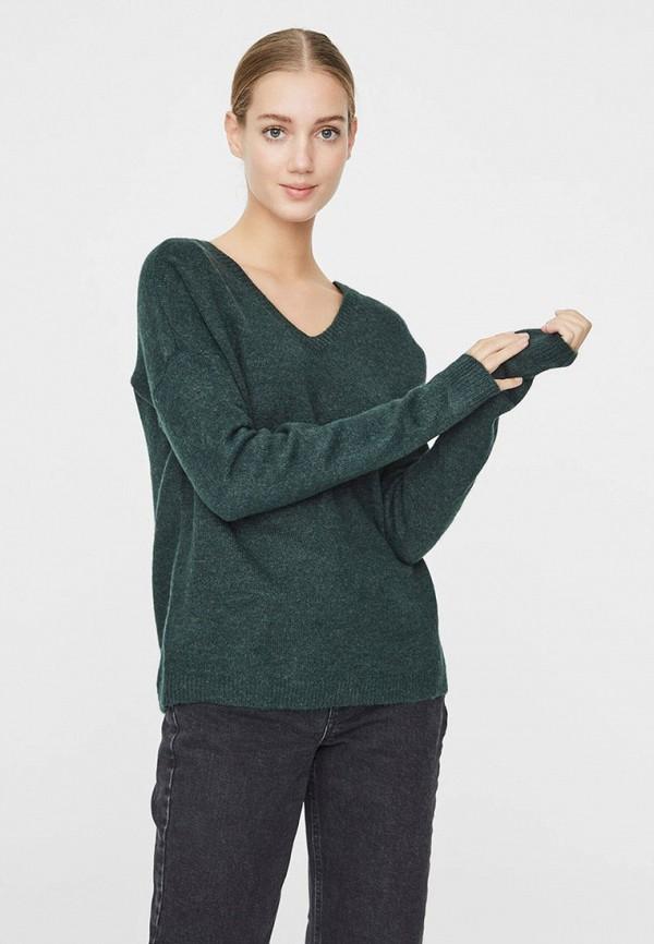 женский пуловер vero moda, зеленый