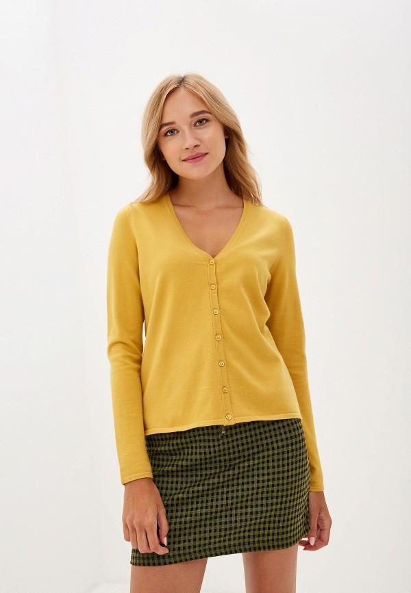 женский кардиган vero moda, желтый