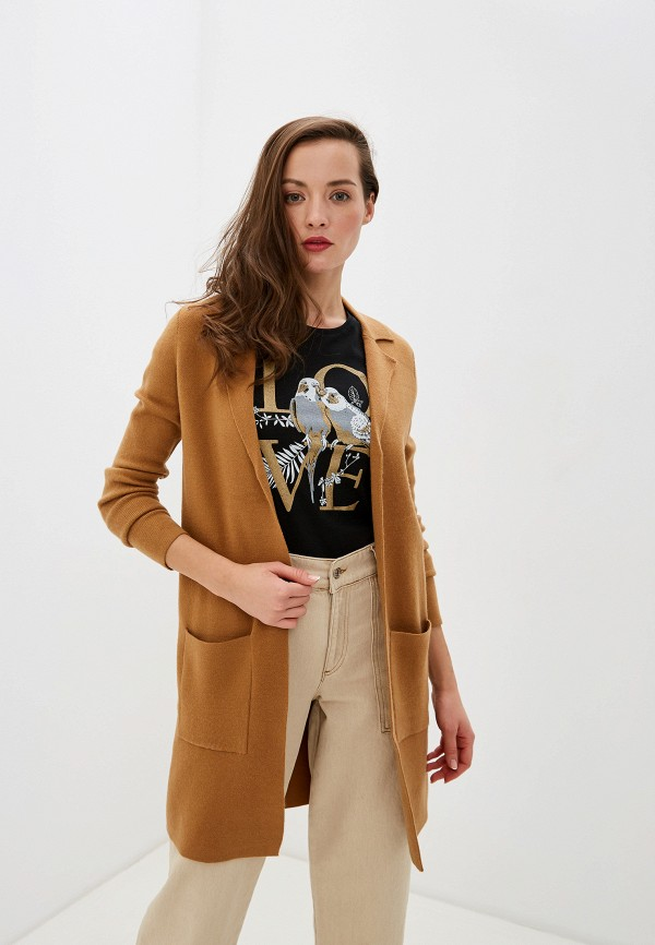 женский кардиган vero moda, коричневый
