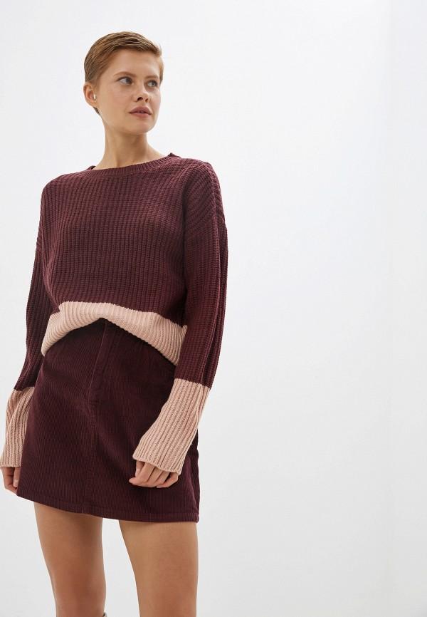 женский джемпер vero moda, бордовый
