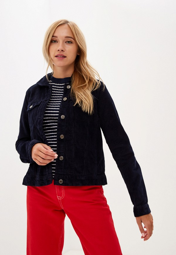 женская куртка vero moda, синяя