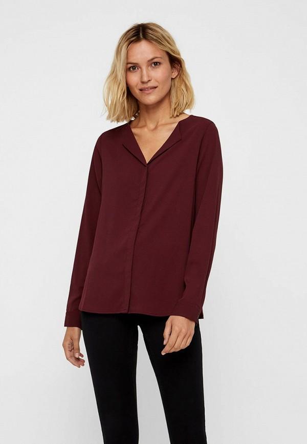 женская блузка vero moda, бордовая