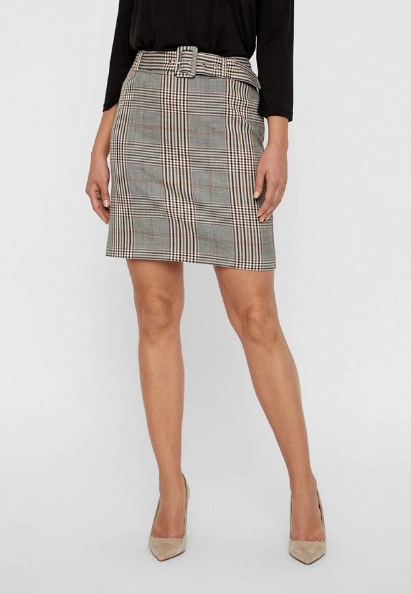 женская прямые юбка vero moda, серая