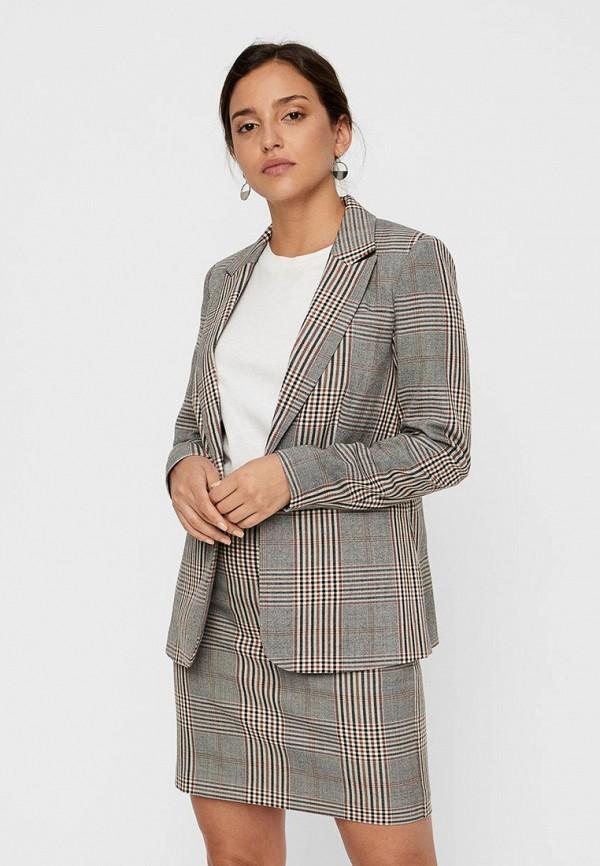 женский пиджак vero moda, серый