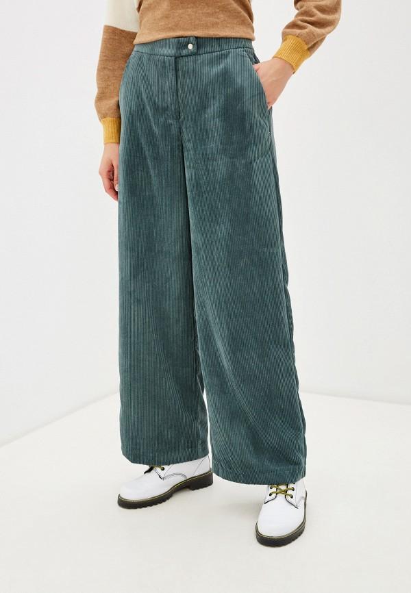 женские повседневные брюки vero moda, зеленые
