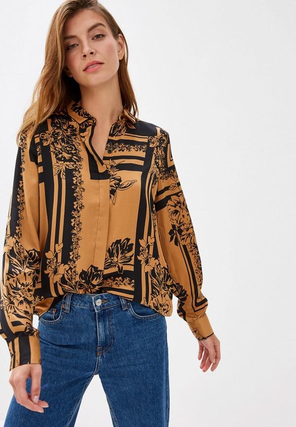 женская блузка vero moda, коричневая