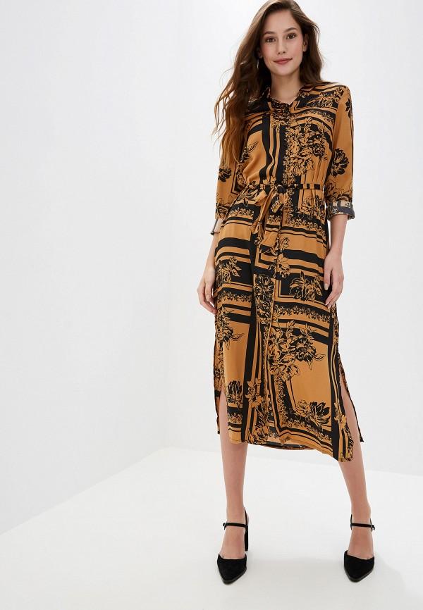 женское платье vero moda, коричневое