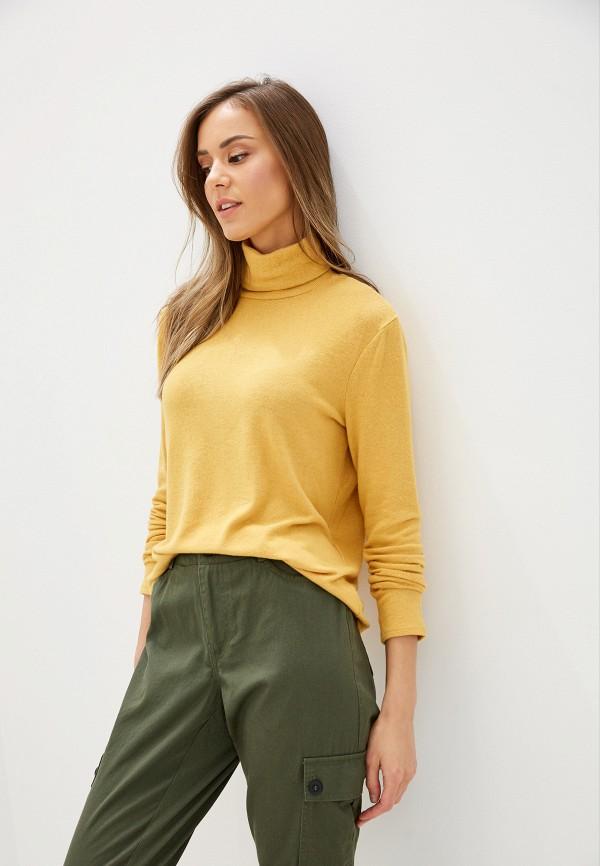 женская водолазка vero moda, желтая