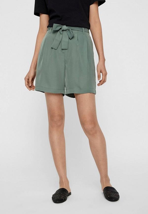 женские повседневные шорты vero moda, зеленые