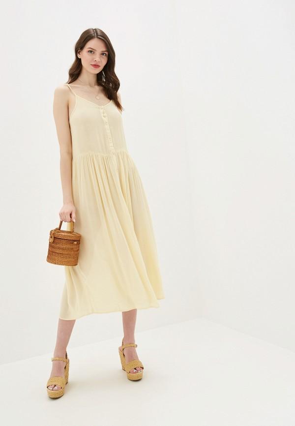 женский сарафан vero moda, желтый