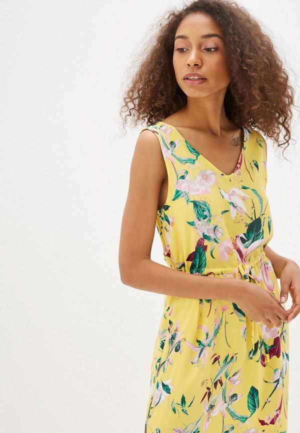 Фото 2 - женское платье Vero Moda желтого цвета