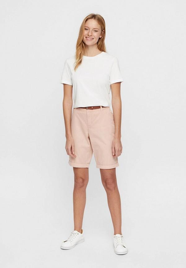 Фото 2 - женские шорты Vero Moda розового цвета