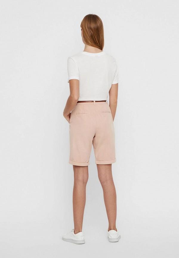 Фото 3 - женские шорты Vero Moda розового цвета