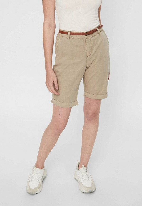 женские повседневные шорты vero moda, бежевые