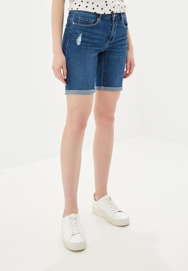 женские джинсовые шорты vero moda, синие