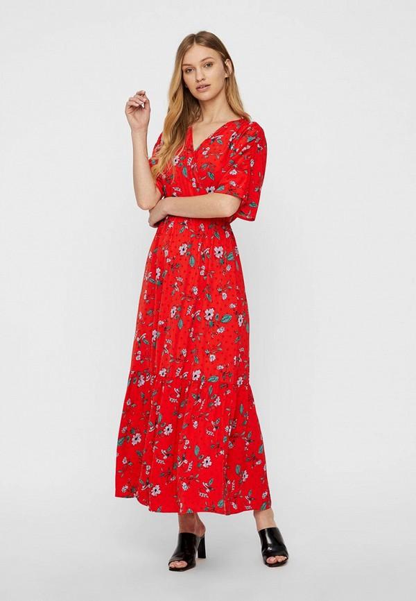 женское повседневные платье vero moda, красное