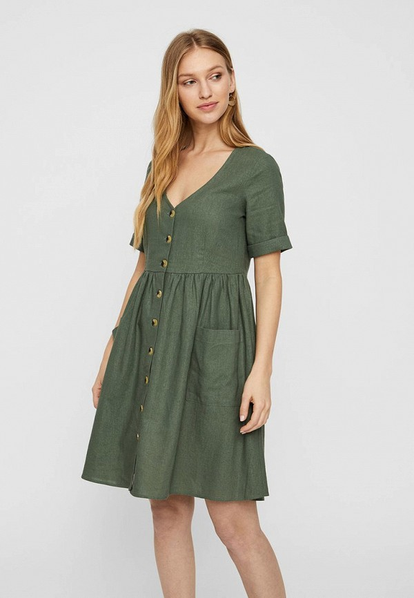 женское повседневные платье vero moda, хаки
